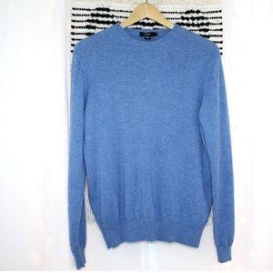 J.Crew Men's 100% Cashmere Sweater in Heather Blue